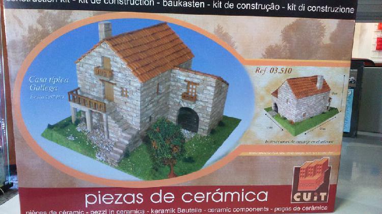 Maqueta ladrillos casa gallega