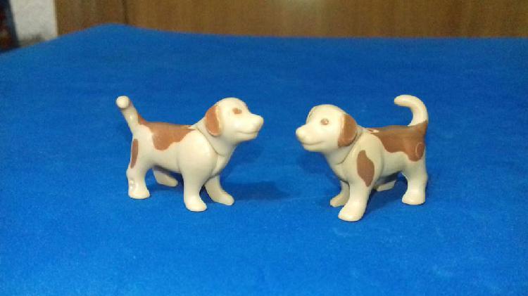 Playmobil 2 cachorros perro