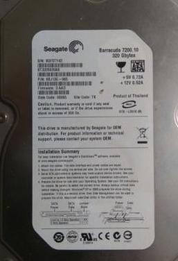 Disco duro seagate barracuda 7200 320gb