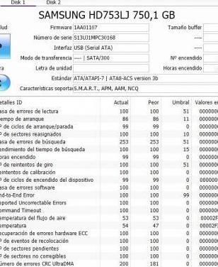 Disco duro samsung 750gb 7200rpm sata ii