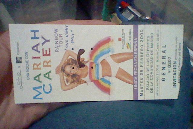 Mariah carey rainbow tour 2000 29 feb palacio deportes