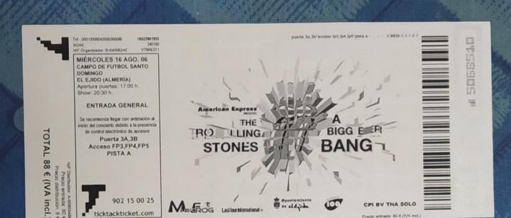 The rolling stones. entrada concierto miércoles 16 agosto
