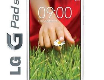 Tablet lg g pad 8.3 v500 blanco.