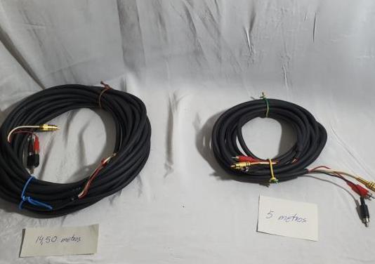 Cables audio video rca de 15 y 5 metros