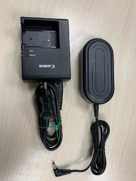 Cargador de bateria y adaptador canon