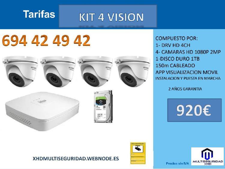 Kit 4 profesional video vigilancia