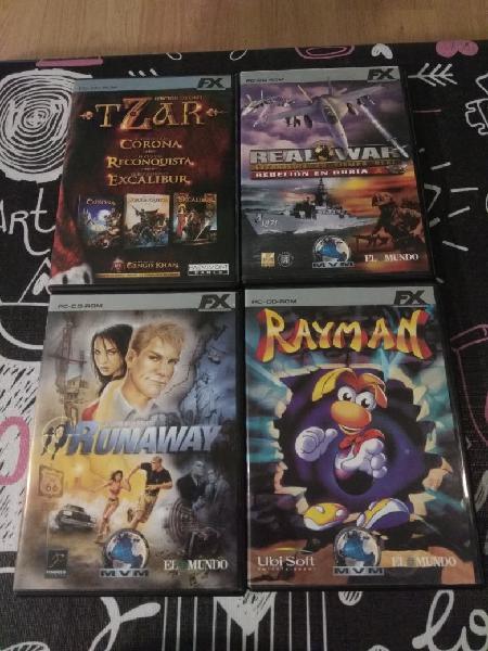 Lote 4 juegos pc cd-rom fx interactive.