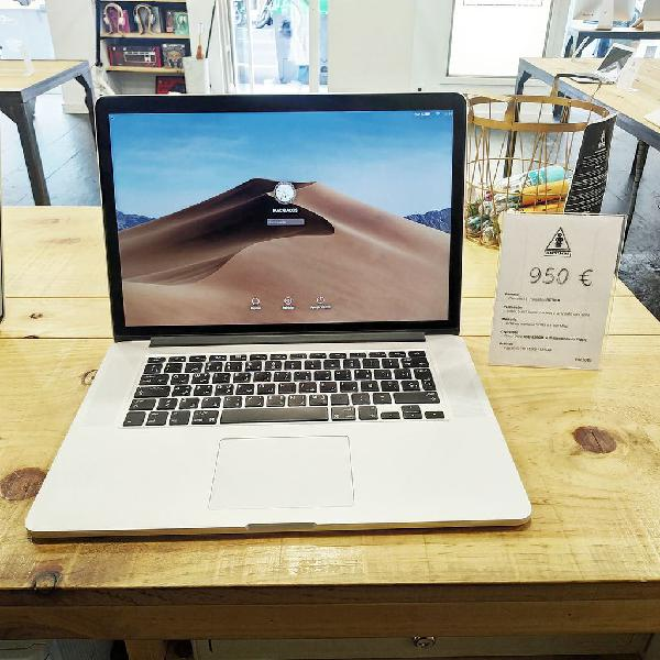 Macbook pro retina 15 i7/8gb/256gb ssd-prc5044