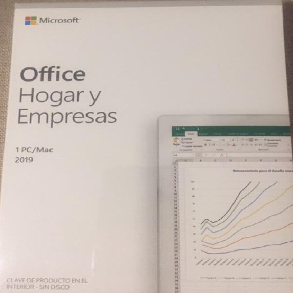 Microsoft office 2019 hogar y empresas 1pc/mac