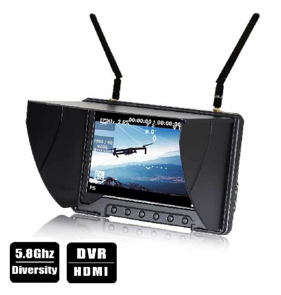 "Monitor flysight black pearl rc801 lcd 7"""