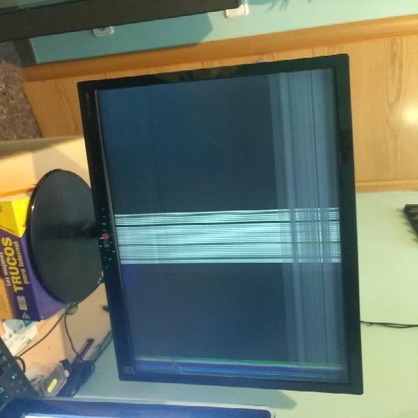 Monitor pantalla estropeada