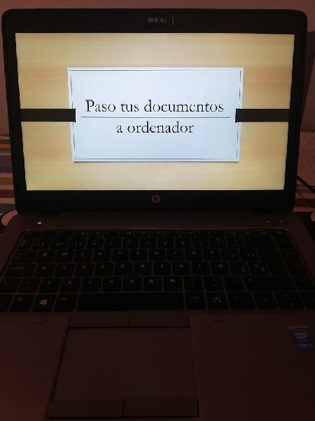 Paso tus documentos a ordenador