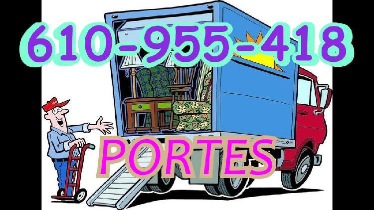 Portes, traslados y mudanzas low cost prof