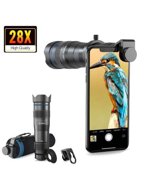 Teleobjetivo x28 para teléfono móvil , zoom.