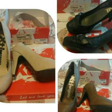 5 par de zapatos mujer xti t. 40