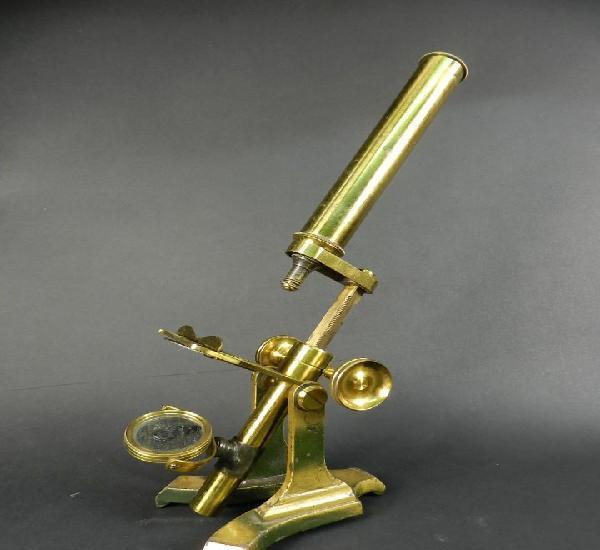 Antiguo microscopio siglo xix microscope mikroskop