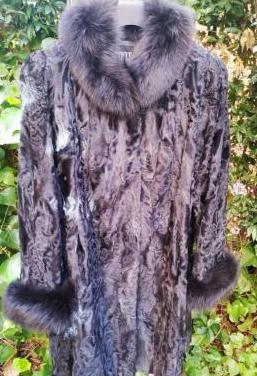 Abrigo piel de astracán y visón