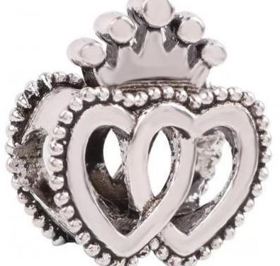 Charm corazones unidos pulsera pandora