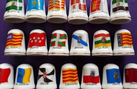 Dedales de porcelana de colección.