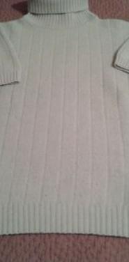 Jersey de manga corta y cuello vuelto, t. 44