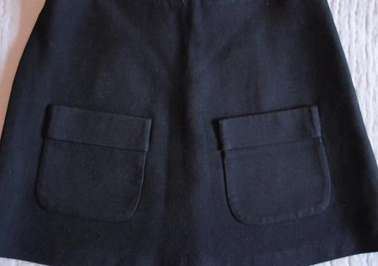 Minifalda negra zara talla s