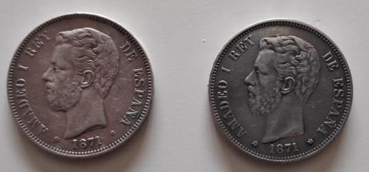 Moneda duro de plata amadeo i