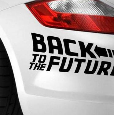Pegatina regreso al futuro para coche
