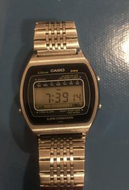 Reloj vintage casio acero año 1978