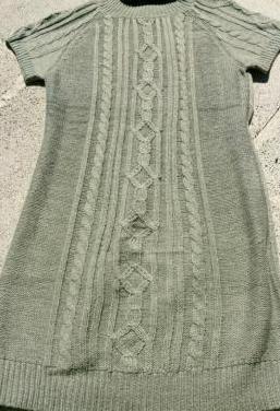 Vestido punto manga corta