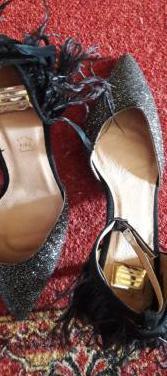 Zapatos piel de fiesta brillantes