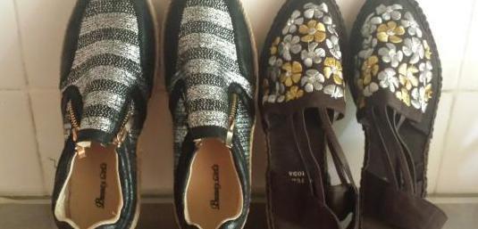 Dos pares de zapatillas nuevas, numero 39,