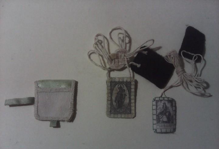 Lote de escapularios detente virgen del carmen hechos a mano