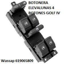 Botonera elevalunas 4 botones golf iv