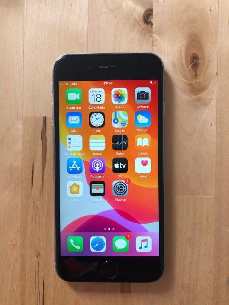 Iphone 6s de 64 gigas salud de batería 88% negro