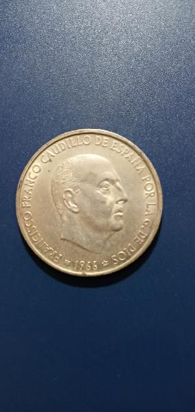 Moneda de 100 pesetas de 1966,
