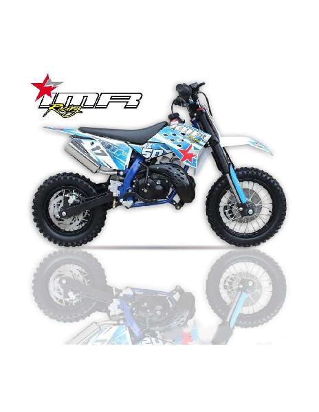 Pit bike imr mx50 9cv nuevo diseño azul