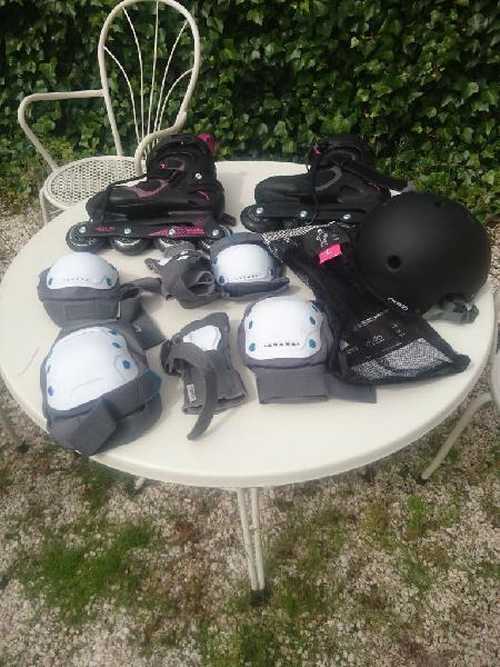 Patines, casco y protecciones