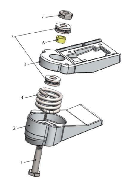 Piezas de repuesto eje skate yow