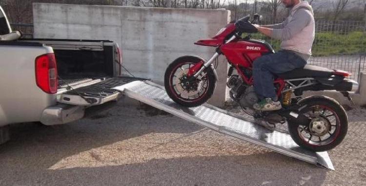 Rampas de aluminio para subir motos, motocicletas.
