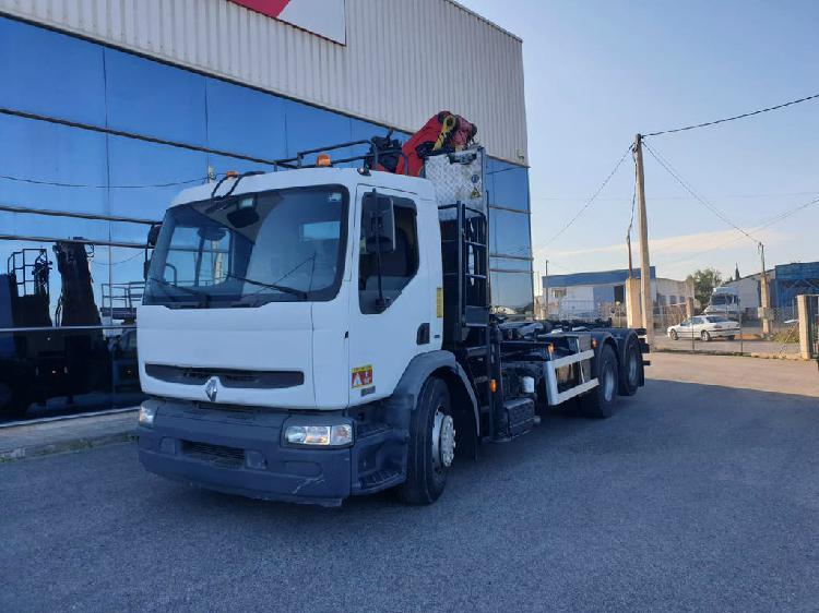 Renault premium 370 6x2 palfinger camión grúa