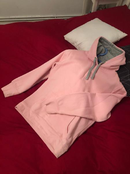 Sudadera rosa mujer