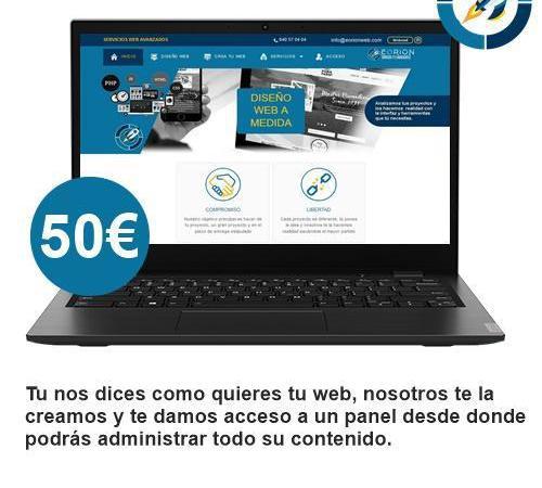 Web personalizada + dominio 50 '�