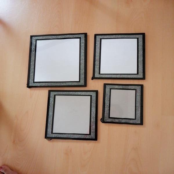 Lote conjunto de 4 marcos para foto