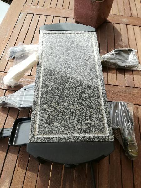 Raclette y grill de piedra natural un solo uso