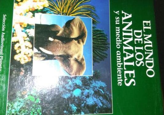 40 laser disc y libros mundo animales
