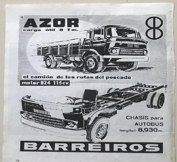Camión barreiros - chasis para autobús - azor camión