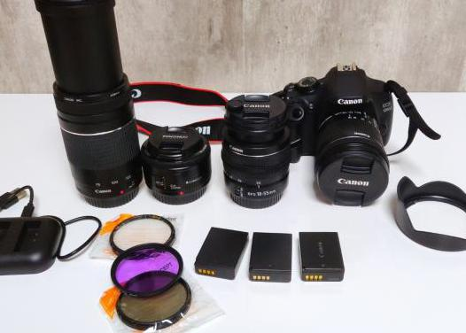 Canon eos 1200d 4 objetivos