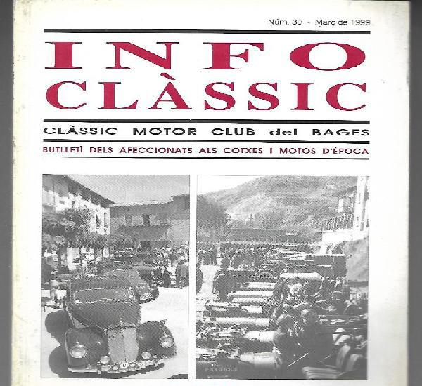 Info classic nº 30 març 1999, classic motor club del
