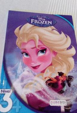 Libro lectura frozen disney