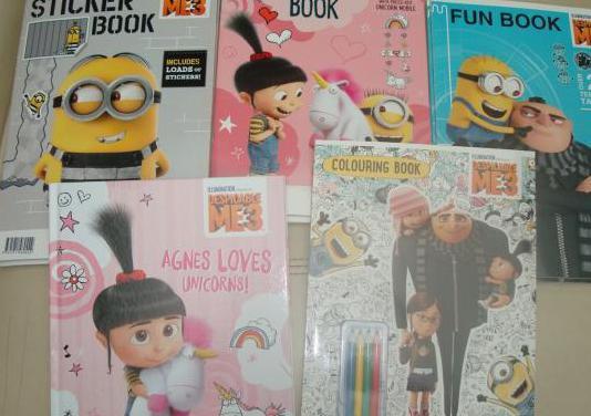 Libros nuevos de los minions con actividades...
